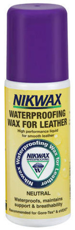 Wosk do skóry NIKWAX Waterproofing Wax for Leather 125ml z gąbką bezbarwny